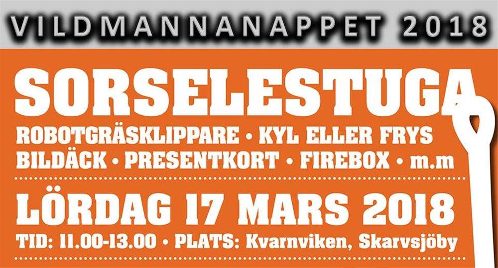 Snart går Vildmannanappet av stapeln i Skarvsjöby den 17/3 kl 11.00.